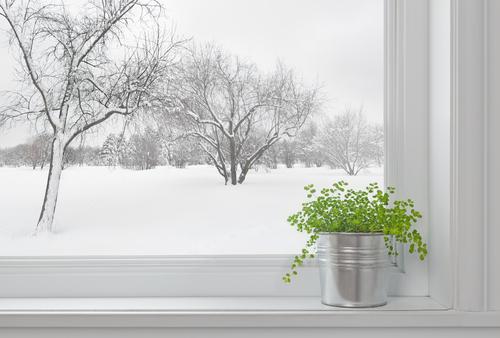 winter window warm home